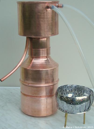 Destille LEONARDO® Classic, 2 Liter & 3,6 l Pflanzenmaterial