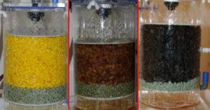 Orangen, Rosinen, getrocknete Schlehen im Essigreaktor
