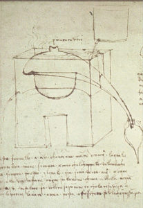 Prinziple ot steam distillation according to Leonardo da Vinci