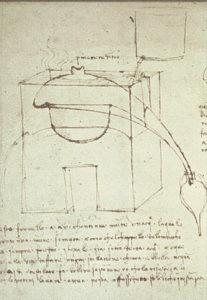 Prinzip der Wasserdampfdestillation nach Leonardo da Vinci